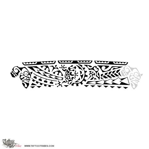 polynesian armband tattoo designs warrior africa the gecko in the center of this band