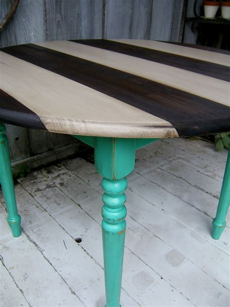 Teal Kitchen Table This Turquoise Is Actually The Same Color As The Top Half Of My Kitchen It S Really Bright And