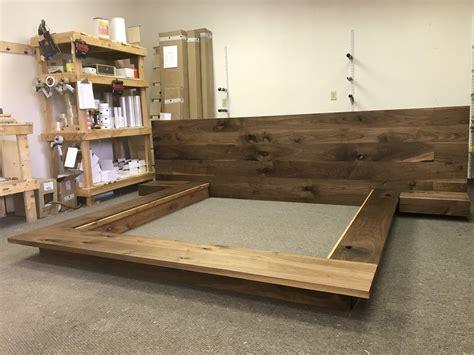 floating platform bed frame  single drawer floating