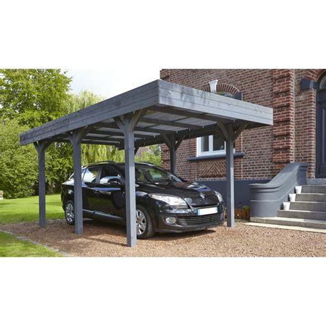 carport plus carport simple 15 75m 178 en bois lasur 233 gris anthracite
