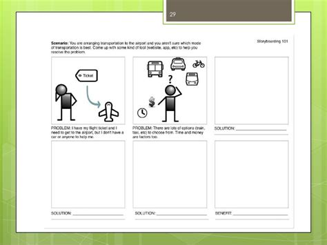 A Workshop On Ux Design And Storyboarding Ux Storyboard Template