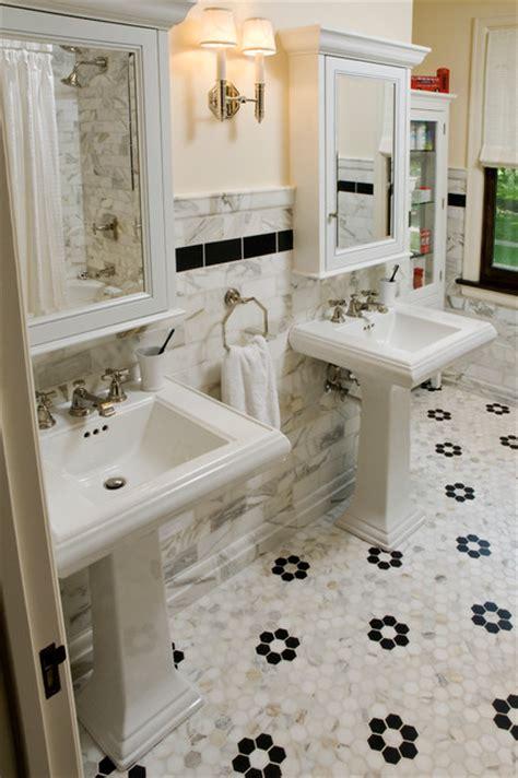 1920s bathrooms 1920s mediterranean rehab traditional bathroom chicago by jenna wedemeyer