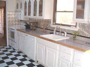kitchen backsplash metal photos of kitchens with metal backsplashes aluminum copper