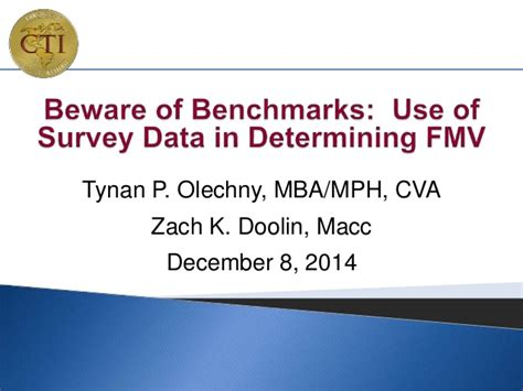 Mph Mba Linkedin by Beware Of Benchmarks Use Of Survey Data In Determining Fmv