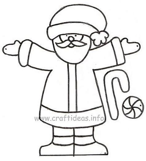 santa claus craft template paper craft patterns free wood craft