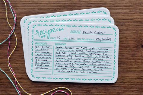 how to make a recipe card letterpress recipe card gift set we r memory keepers