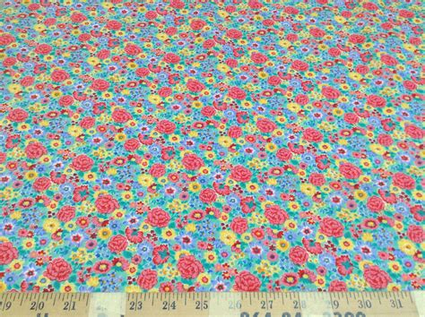 Quilting Fabric Cheap by Discount Fabric Quilting Cotton Multi Colored Floral 036ct