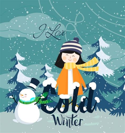 commercial woman hits snowman winter background vector free vector download 45 005 free
