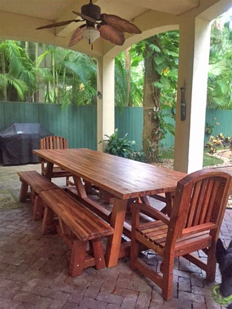 Redwood Patio Table The Classic Redwood Patio Table Foreverredwood