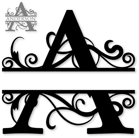 monogram ideas quot a quot split monogram chaos diy silhouette dream it