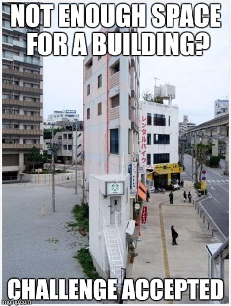 image tagged in skinny building memes challenge accepted