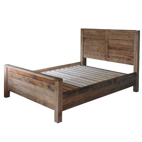 reclaimed wood bed frames reclaimed bedroom furniture rustic bed modish living
