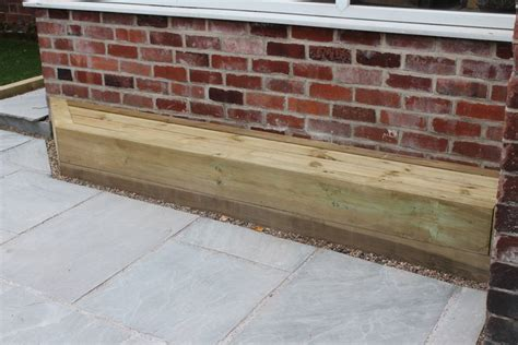 bench sleeper sheffield landscaper gallery patios decking ponds fencing sleepers
