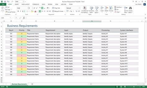 How To Write Business Requirements Specifications Part 1 Requirements Gathering Template Excel Free