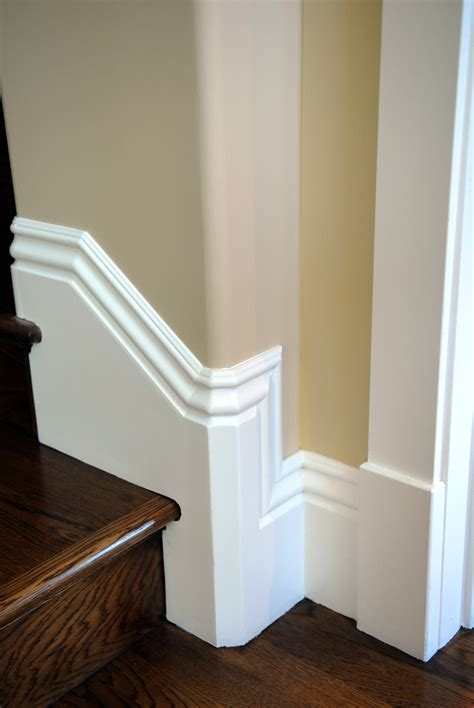 Stair Definition by Raked Baseboard Returns Thisiscarpentry