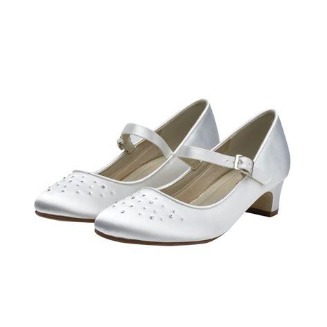 white kid shoes rainbow club verity white satin bar shoes shoes co uk