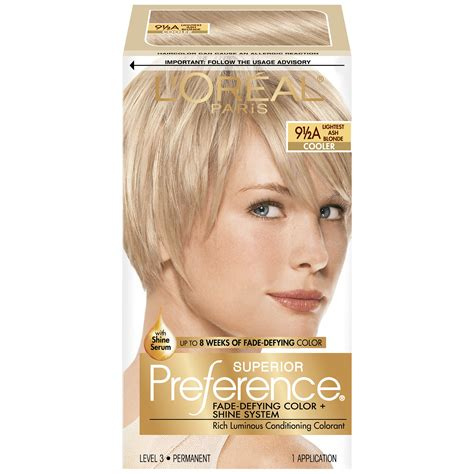 best box blonde color l oreal 9 1 2a cooler lightest ash blonde hair color 1 kt