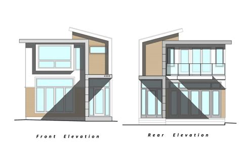 home design drawing our project custom modern home elevation drawings by