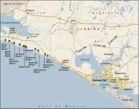 map of florida showing panama city panama city fl map