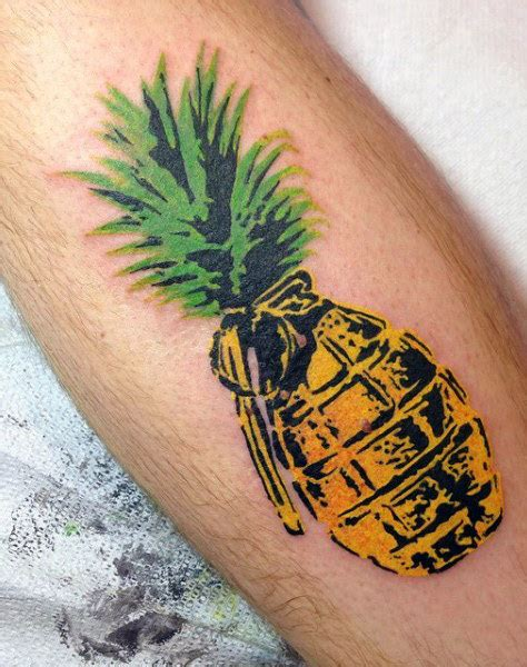 pineapple tattoo meaning 50 grenade designs for explosive ink ideas
