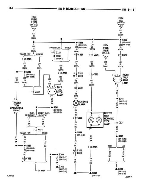 jeep xj light wiring diagram jeep auto