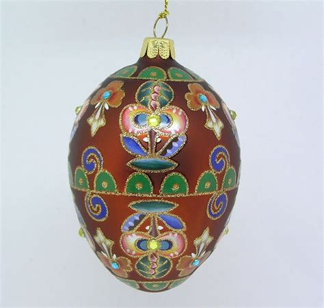 musical egg ornaments from qvc qvc joan rivers russian inspired glass egg ornament 2014 copper floral ebay