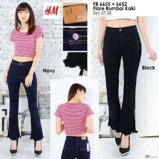 Celana Wanita Prilly Cutbray Size 27 34 1 celana sobek wanita