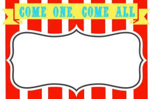 free templates for signs carnival signs template clipart best