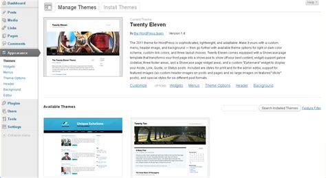 wordpress how to install easy wordpress theme template