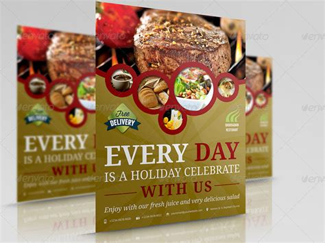 20 Creative And Premium Restaurant Flyers Restaurant Flyer Template