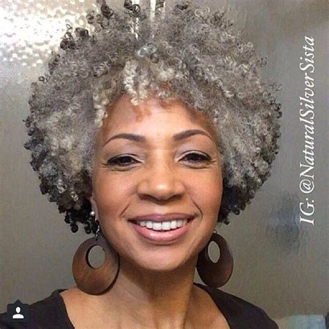 coloring natural grey african american hair gray hair natural swag love timeless pinterest