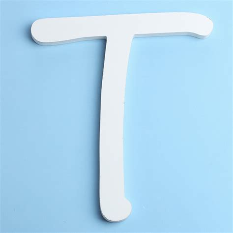 Name Letter T white brush font wood letter t word and letter cutouts