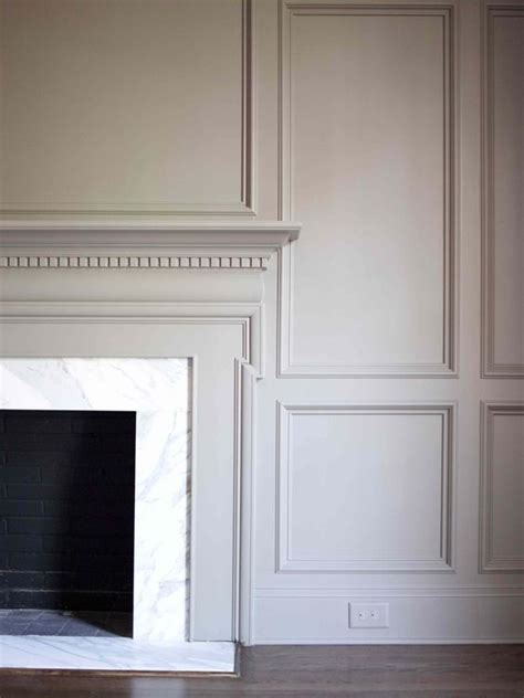 panelled walls fireplace mantel surrounded by panel walls millwork