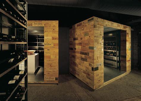 interior design in a box wine celler de can roca restaurant by tarruella