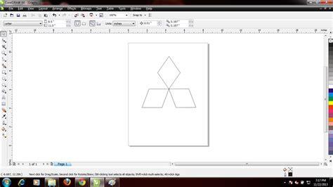 tutorial corel draw membuat logo tutorial cara membuat logo perusahaan contohnya mitsubishi