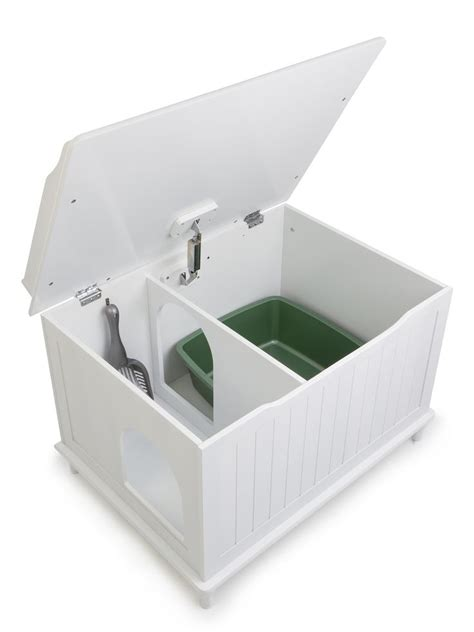 bench litter box litter box enclosure