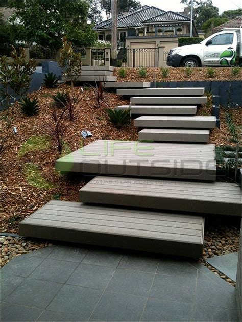 outside steps how to make floating concrete stairs google search