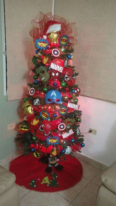 super heroes christmas tree super heroes marveldc christmas tre pinterest trees
