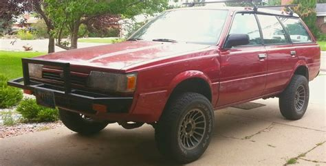 lifted subaru loyale my beloved 1992 subaru loyale 4 quot lift 27 quot tires 6 lug