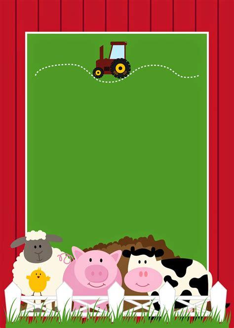 imagenes animales gratis invitaciones para fiesta de la granja para imprimir gratis