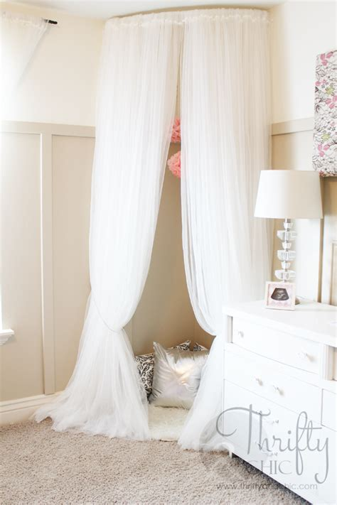 curved curtain rod for canopy thrifty and chic diy projects and home decor