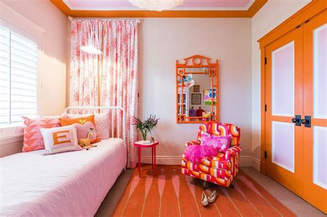 pink and orange bedroom pink and orange bedroom accents transitional bedroom