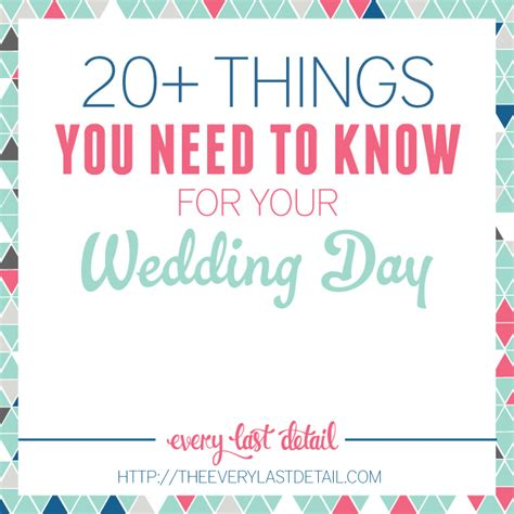20 things you need to for your wedding day every