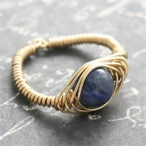 handmade jewelry etsysodalite goldfill wire wrapped ring