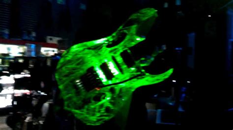 The Light Like A Guitar Only With Light by This Is Rodney Ibanez Guitar With Green Led Lights