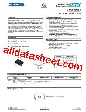 diodes inc ta suffix zxgd3006e6ta 데이터시트 pdf diodes incorporated