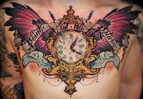tattoo chest clock chest tattoo images designs