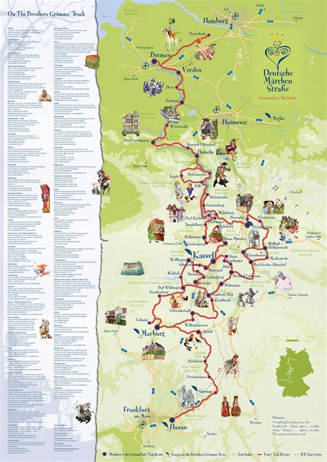 map of german routes german tale route germany about interesting
