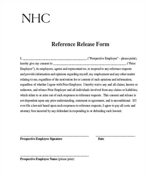 Release Letter Cite Hr key release form date 2 new york care patient