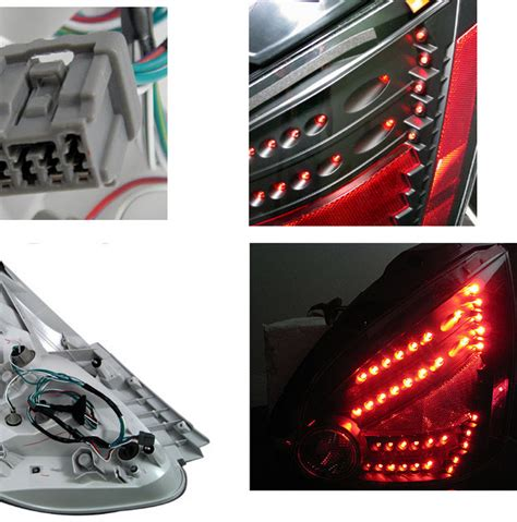 nissan maxima tail light 04 08 nissan maxima euro style led tail lights by depo black